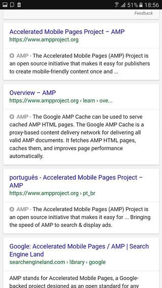 Google AMP and SERPs