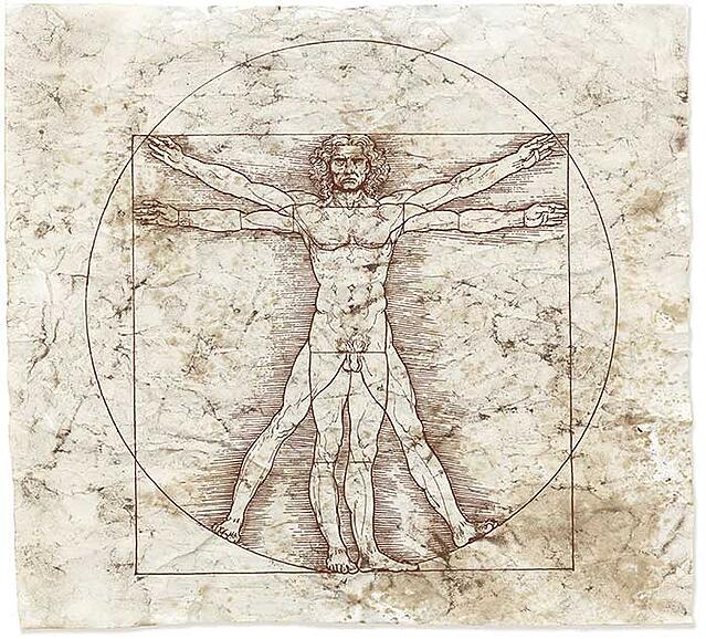 Vitruvian man, content marketing and artificial intelligence
